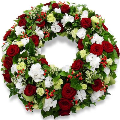 Couronne fleurs roses memoire 400x400 25377